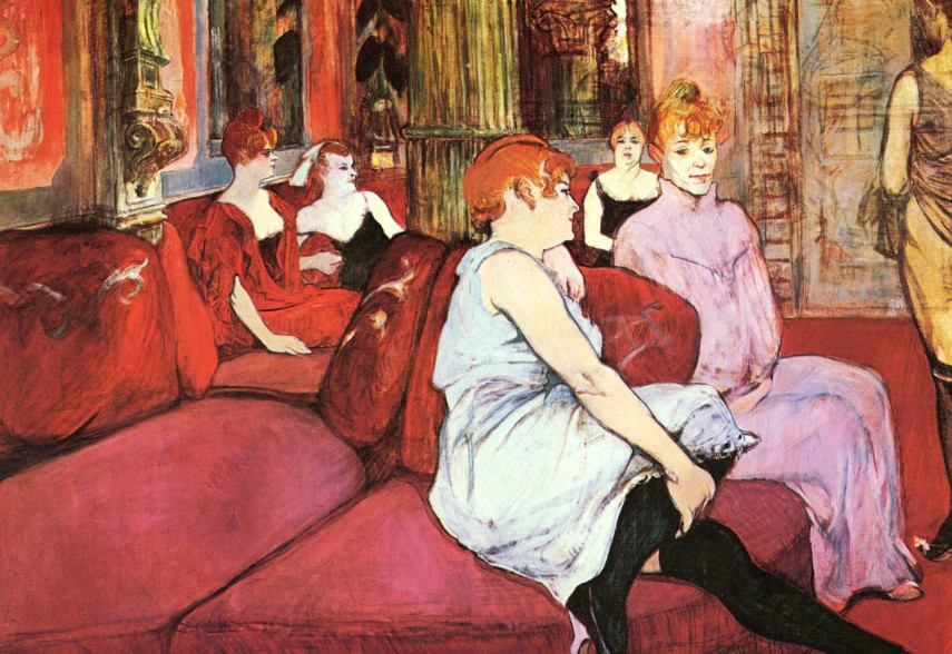 Henri de Toulouse-Lautrec - In the Salon at the Rue des Moulins, 1894 - Image via ytimgcom biography 2016 page
