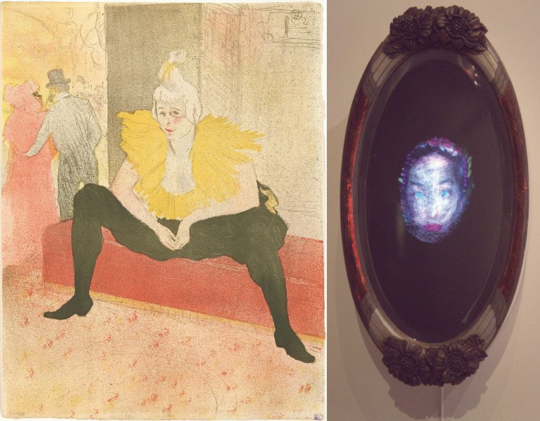 Henri de Toulouse-Lautrec - La Clownesse assise, Mademoiselle Cha-U-Ka-O, 1896, Olga Titus - Mirror Mirror on the Wall, 2010