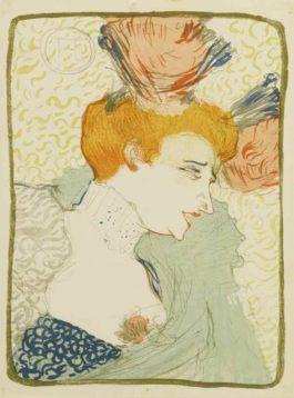 Henri de Toulouse-Lautrec-Mademoiselle Marcelle Lender, en buste-1895