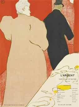 Henri de Toulouse-Lautrec-Programme pour L'Argent-1895