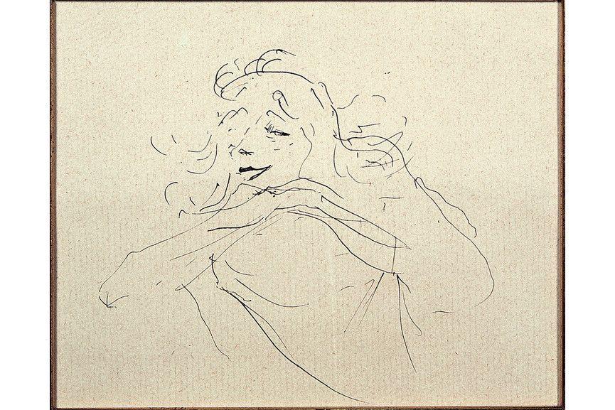 Henri de Toulouse-Lautrec - Study of Yvette Guilbert