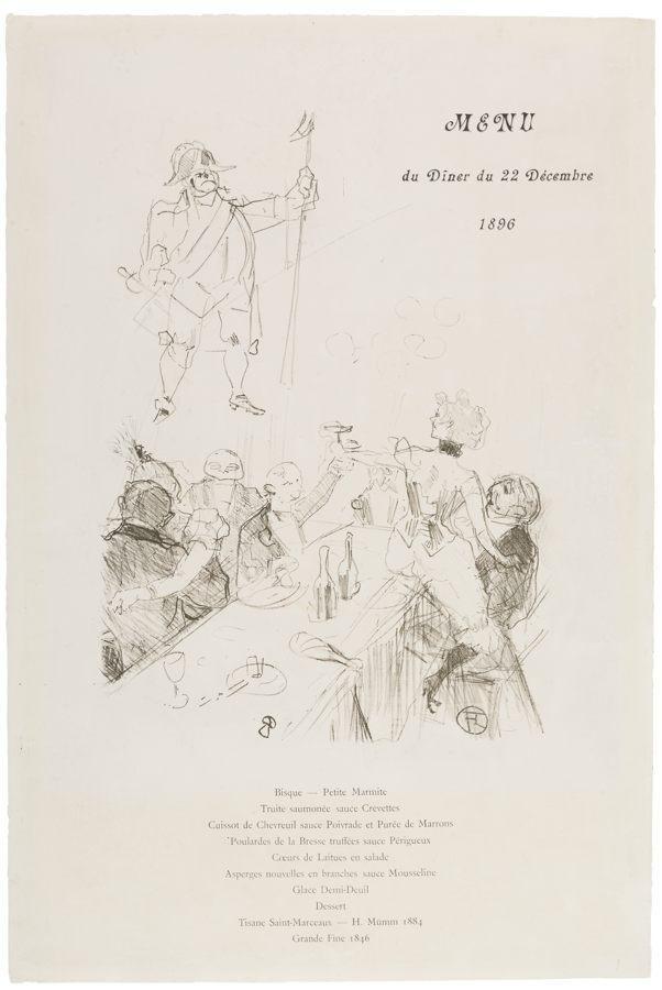 Henri de Toulouse-Lautrec-Suisse Menu-1896