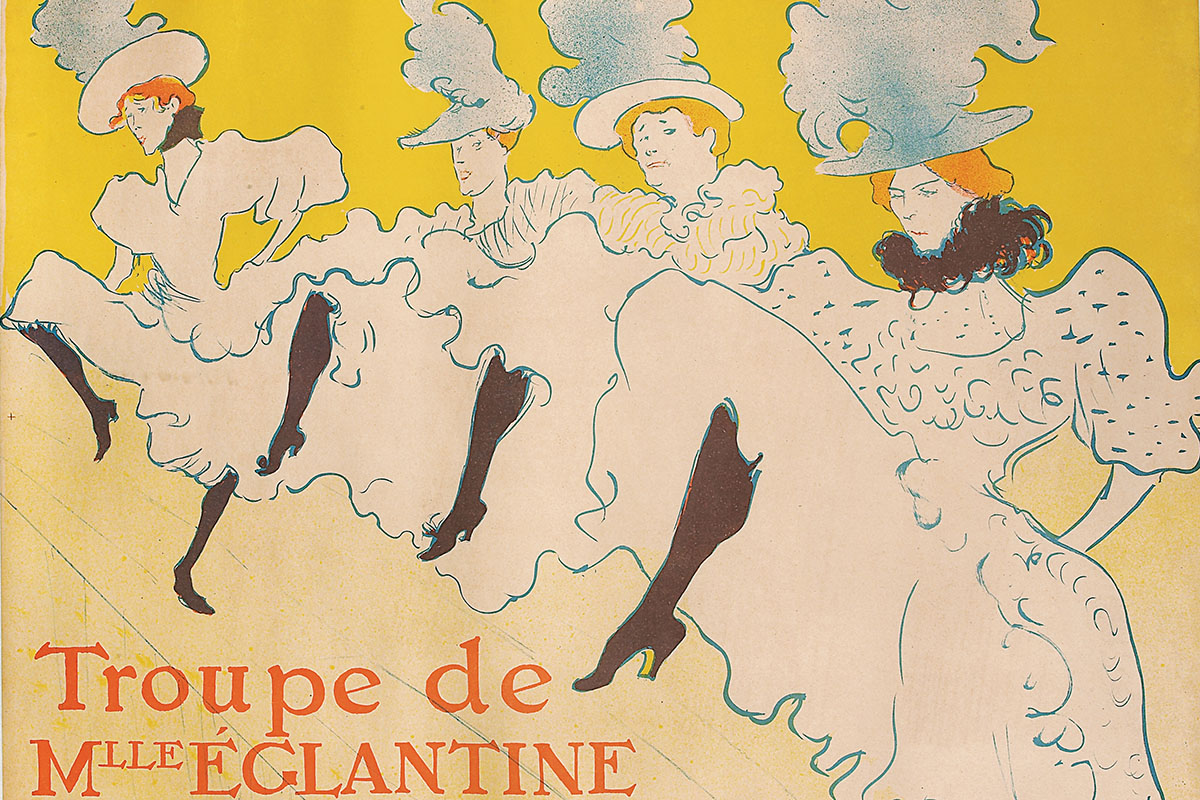 Detail of Troupe de Mlle Églantine, 1896 by Henri de Toulouse-Lautrec