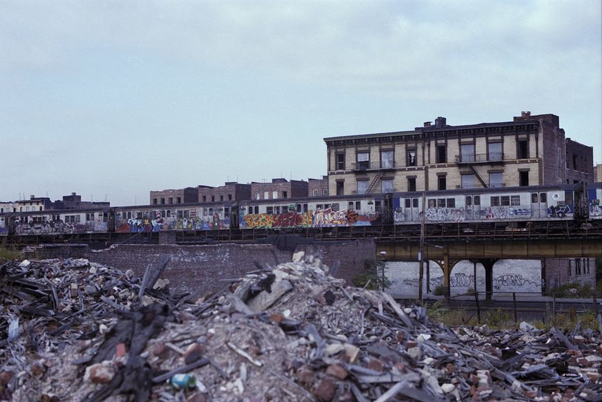 Henry Chalfant - Destroyed and Abandoned buildings along Hoe Ave and the IRT line in the Bronx, 1981