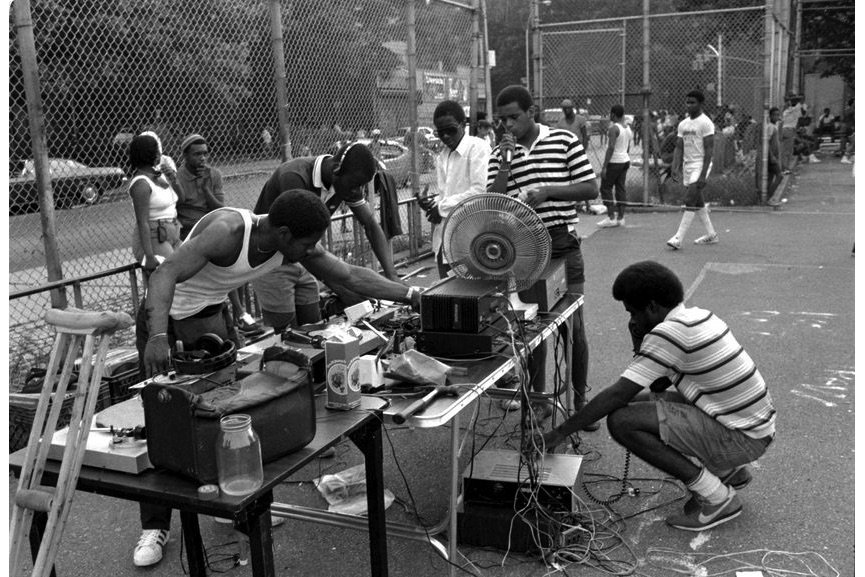 Henry Chalfant - Gman prepares for the Park Jam, 144th St. & 3rd Ave. The Bronx, 1984
