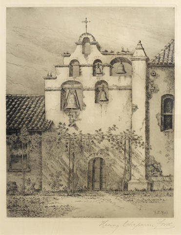Henry Chapman Ford-Bell Tower Mission San Gabriel-1891