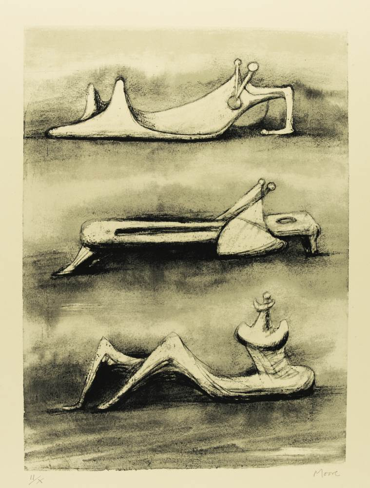 Henry Moore-Figures In Snow-1976