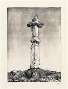 Henry Moore-Glenkiln Cross Plate II-1972