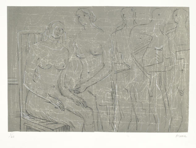 Henry Moore-Group of Figures-1963