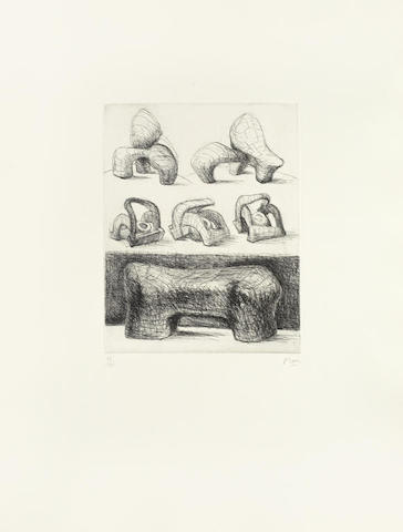 Henry Moore-Ideas for Sculpture; Ideas for Sculpture in Landscape & Projects for Hill Sculpture 3 folio-1969