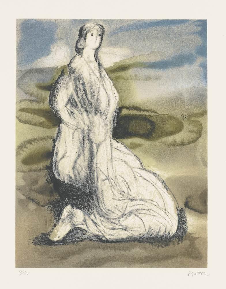 Henry Moore-Kneeling Woman-1982
