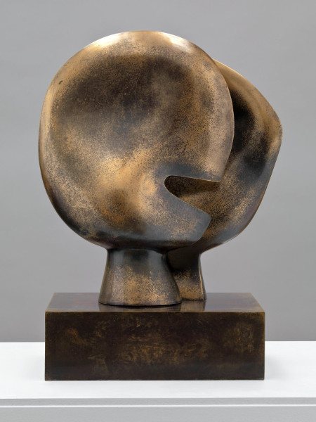 Bronze statue by Henry Moore - Moon Head Sculpture, 1964
