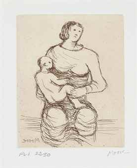 Henry Moore-Mother and Child-1983