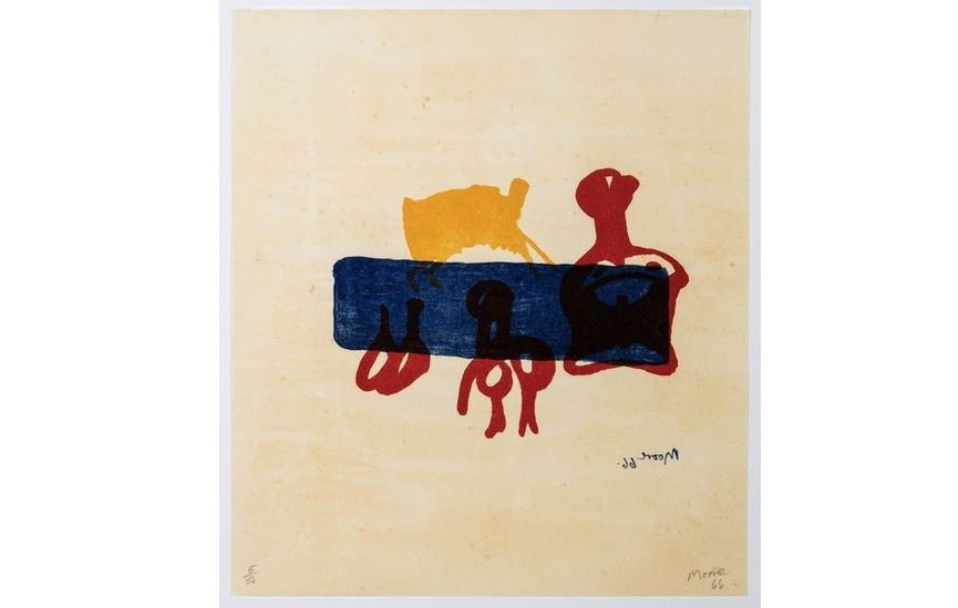 Henry Moore - Motif in Red, Blue and Yellow, 1966