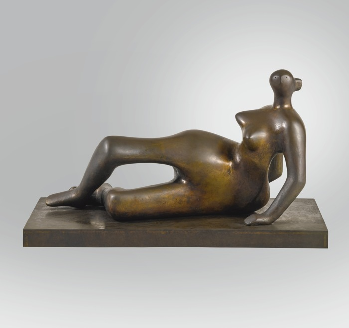 Henry Moore-Reclining Figure No. 7-1980