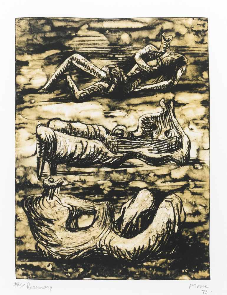 Henry Moore-Reclining Figures-1973