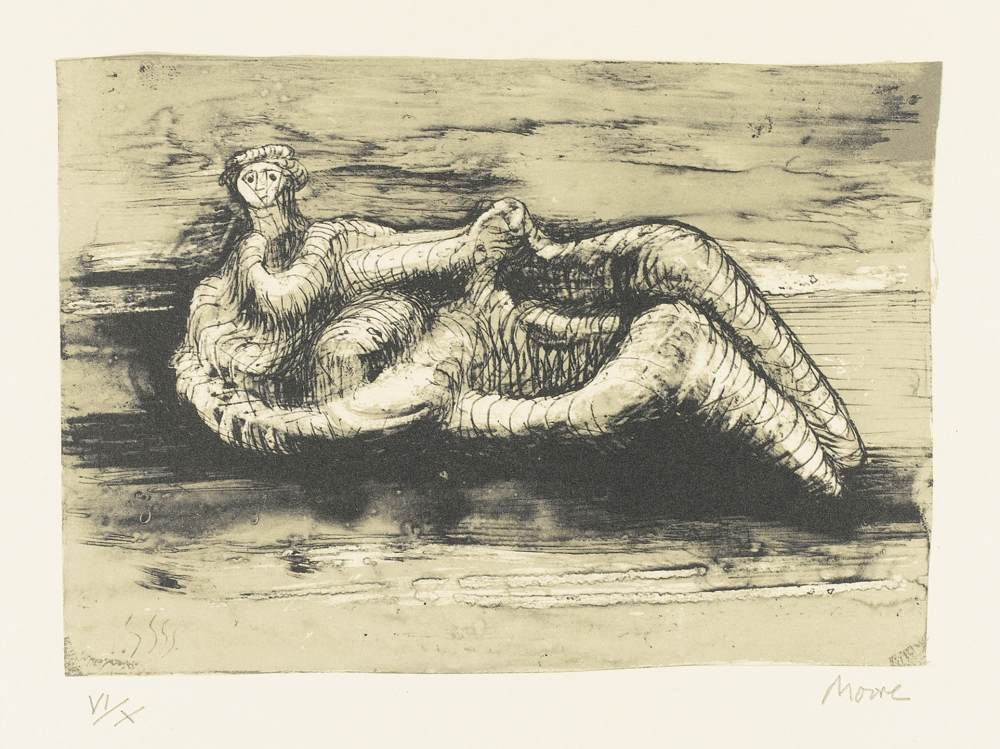 Henry Moore-Reclining Woman-1975