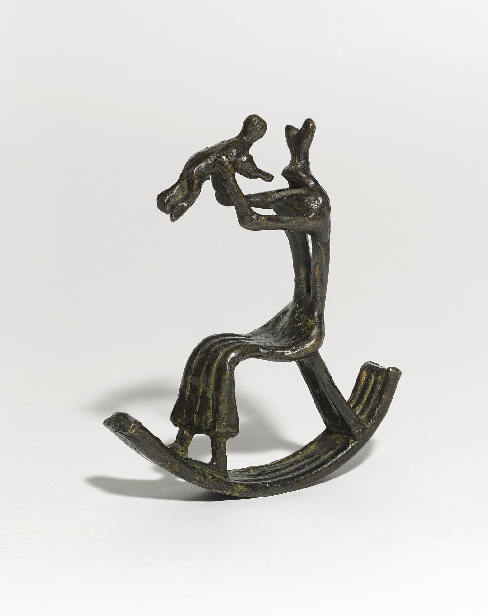 Henry Moore-Rocking Chair No. 4: Miniature-1950