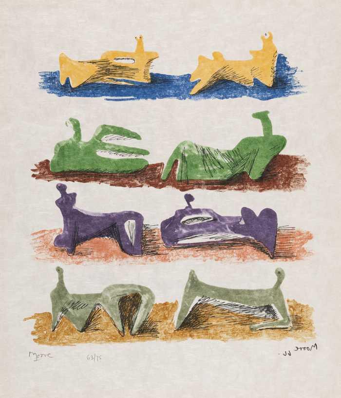Henry Moore-Shelter Sketchbook-1966