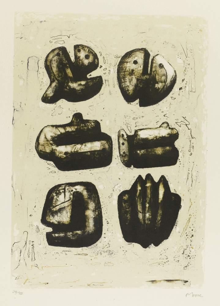Henry Moore-Six Stone Figures-1973