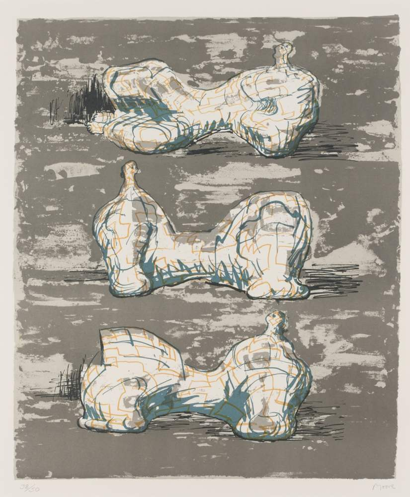 Henry Moore-Three Reclining Figures-1976