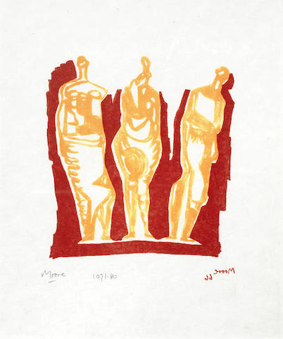 Henry Moore-Three Standing Figures-1966