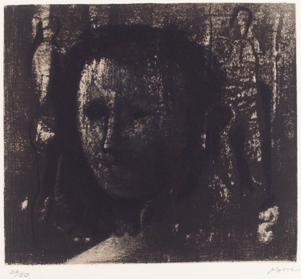 Henry Moore-Woman'S Head-1981