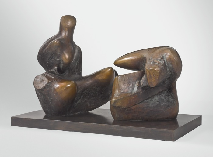 Henry Moore-Working Model For Two Piece Reclining Figure: Points-1970
