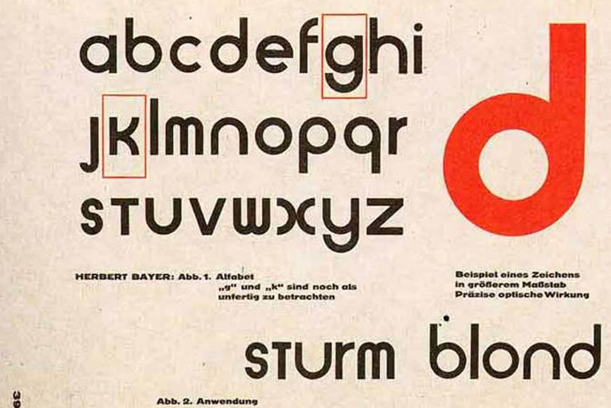 Bauhaus typography typeface