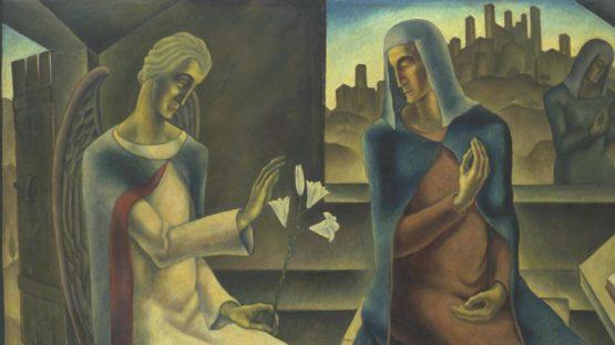 Herbert Gurschner - The Annunciation, 1929-30 (Detail) - Tate Collection