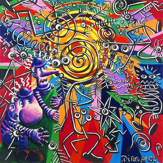 Herve Di Rosa - Les deux vagabonds et le simplon, 1988