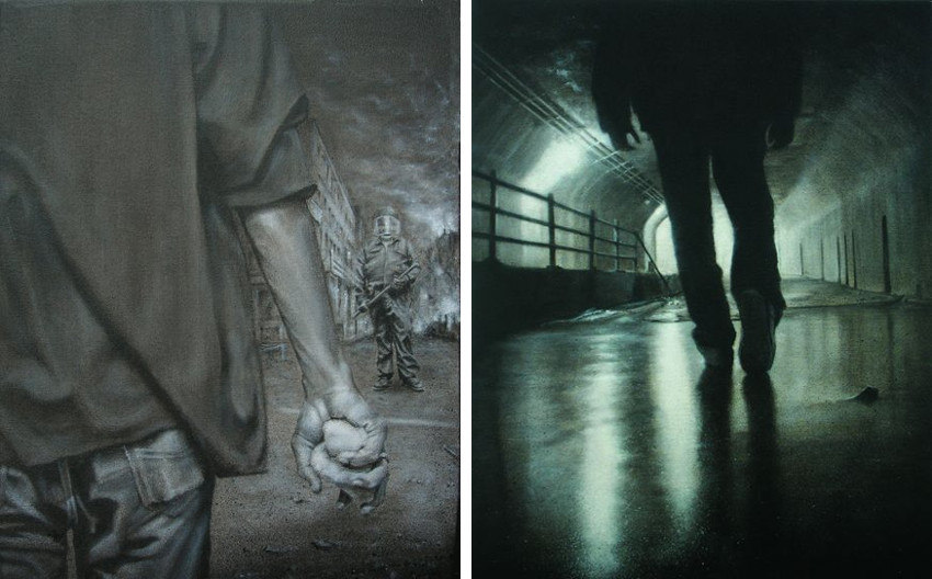 Hest1 - Come from Paris, 2005 (Left) - The Right Path, 2007 (Right)