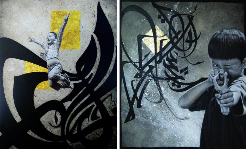 Hest1 - Wind of Change, 2011 (Left) - Slingshot Kids, 2013 (Right)