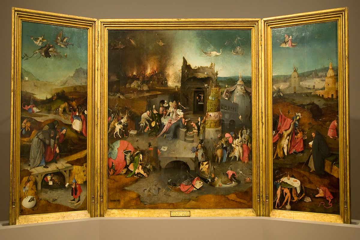 Hieronymus Bosch Salvador Dali and Max Ernst all painted the subject of The Temptation of St Anthony and Hieronymus Bosch painted this theme as a triptych - all these information you can find and search for in an article on our page