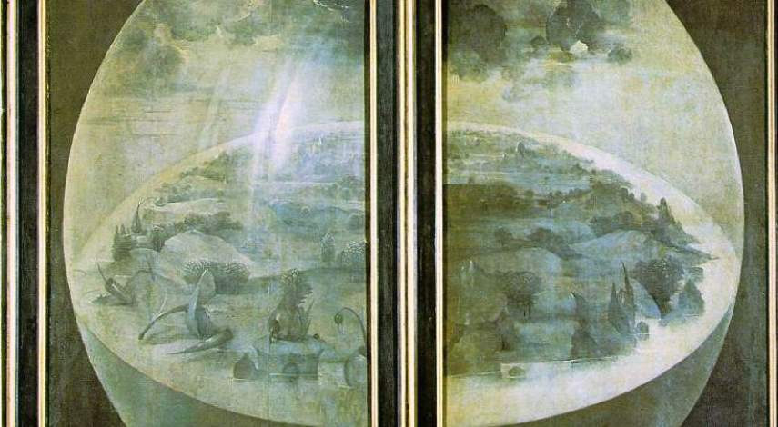 Hieronymus Bosch - The Garden of Earthly Delights - Outer Wings, c. 1480-1505