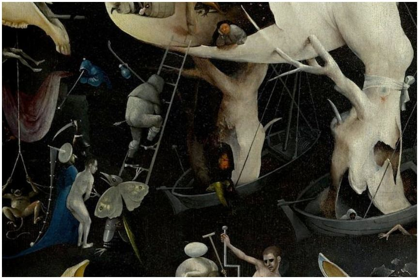 Dark paintings by the master artist Hieronymus Bosch