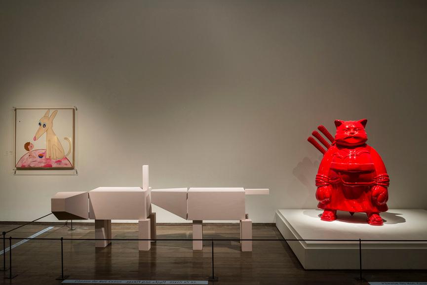 Samuraicat Red, 2006, displayed at The Israel Museum