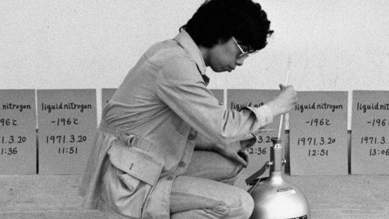 Hitoshi Nomura Installing Liquid Nitrogen -196° C - Copyright Hitoshi Nomura