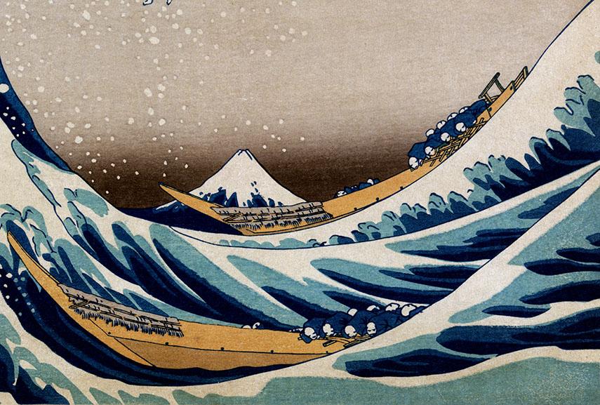 Hokusai – Under The Great Wave off Kanagawa, 1832, detail