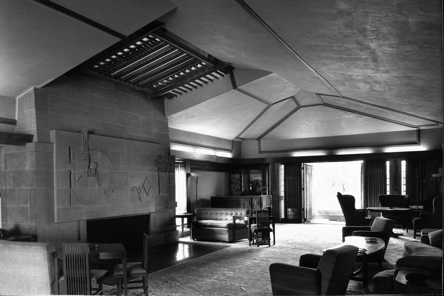 Hollyhock House in Los Angeles, Interior
