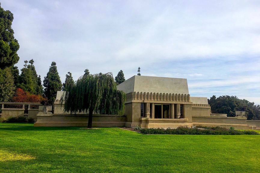 Hollyhock House in Los Angeles, one of UNESCO heritage sites