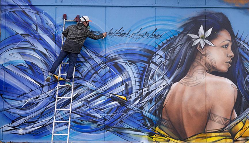 Street art festival Tahiti