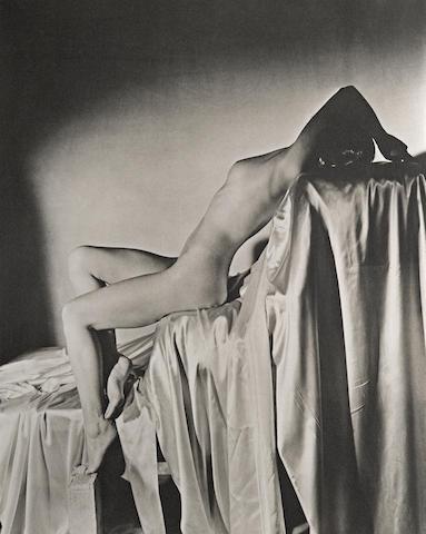 Horst P. Horst-Lisa on Silk, New York-1940