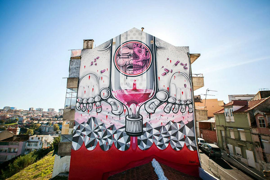 Mural in Lisbon