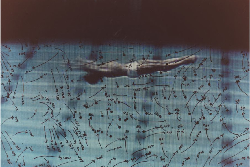 Video Drawings Swimming, 1975
