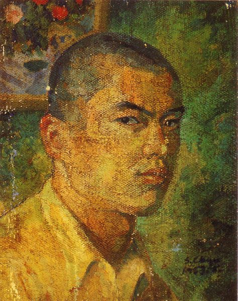 Hsiao Chin - Selfportrait, 1953, photo courtesy of the Hsiao Chin, painting