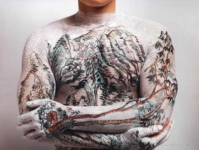 Huang Yan-Tattoo Landscape No. 9-1999