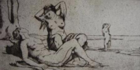 Hubert Wilm - Badende Frauen  Bathing Women, 1912 - image courtesy of Sylvan Cole Gallery