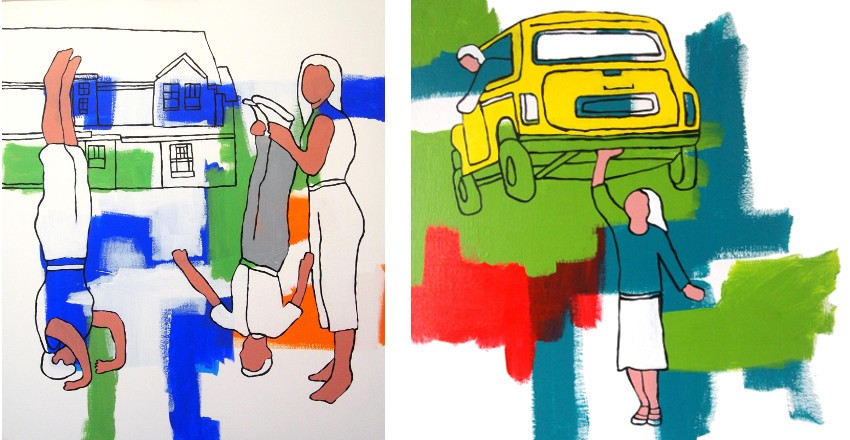 Hugh Ford - Shakedown, 2012 (Left) / Holding Up Traffic, 2013 (Right)