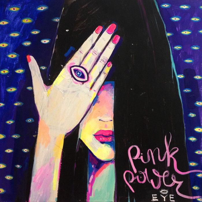 Hulya-PINKPOWER EYE - Darkside Portrait-2014